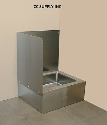 "Left Side Splash Guard for Mop Sink Size 25""x21"", 15""High Sink not included"