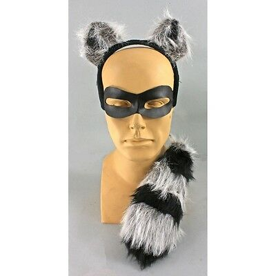 Raccoon Costume Ears Tail and Mask 3 PC Raccoon Disguise  Kit SALE!!!