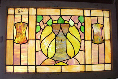 """STAINED GLASS Window  - Antique - """"Rite of Spring""""  -   (SG855)"""