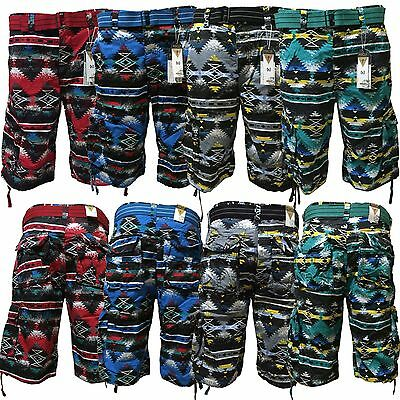 Men's Focus Belted Cargo Shorts 4 Colors Sizes 30 to 44