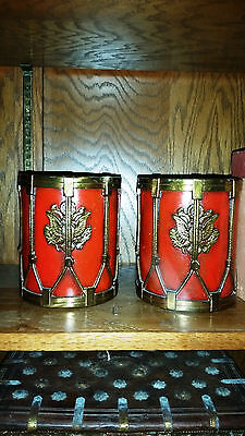 Bronze Clad Drum Bookends by Marion Bronze circa 1965 - marked MB