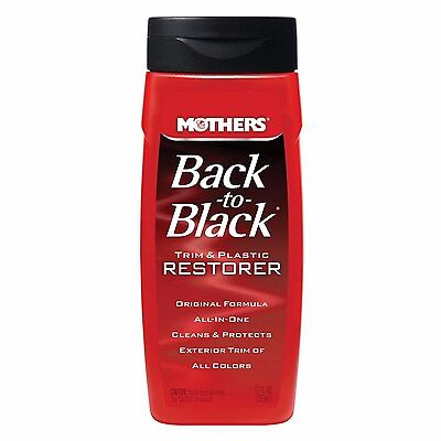 Mothers 06112 Back-to-Black Plastic and Trim Restorer - 12 oz. by Mothers AOI
