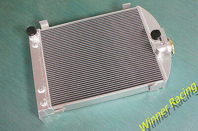 UP TO 1000HP aluminum alloy radiator Ford truck hot rod w/305 V8 engine 1932