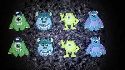 Monsters Inc University MU Croc Shoe Charms Crocs Jibbitz Wristband Mike Sully