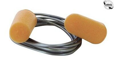 PORTWEST PU Foam Ear Plugs with Cord - Orange - Pack of 200 Pairs - EP08ORR