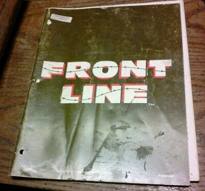 Taito FRONT LINE Arcade Video Game Manual - good used original