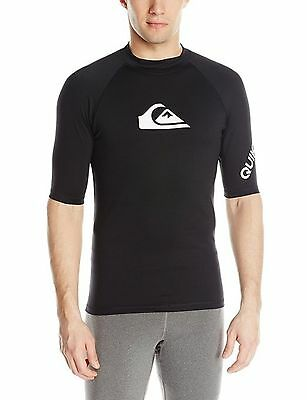 Quiksilver Men's All Time Short Sleeve Surf Tee Rashguard Small
