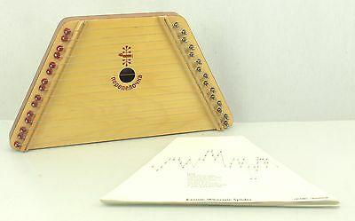 Vintage Music Maker Lap Harp Dulcimer & Music Sheets Stringed Instrument Belarus
