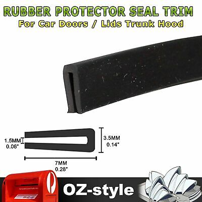 3M Black Rubber Moulding Seal Strip Car Door Edge Protection Guard Decorate Trim