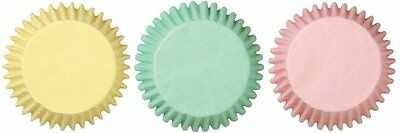 Pastel Mini Cupcake Papers, Bake cups, Wilton, 100ct.Multi-Color,Soft Baby Color