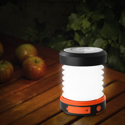 Portable Collapsible LED Solar Camping Lantern USB Tent Light Torch Rechargeable