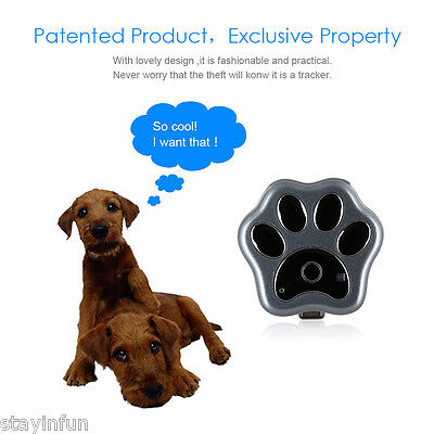 Smart Pet Anti-lost GPS Tracker Wifi Safety LED light RF-V30 For Puppy Cat Gray