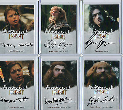 The Hobbit  Battle Of The Five Armies  -   Autograph Sketch And Plate Selection