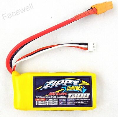 LIPO ZIPPY BATTERIE 1300 Ma 2S 25C XT60 Vendu de France