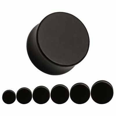 BLACK Wooden Ear Plugs Stretchers Jewellery Saddle Gauge Tunnel Timber PL68