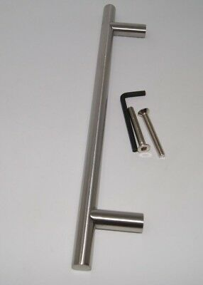 Guardsman Large Door Pull Handle T Bar (400mm Overall) Satin Stainless