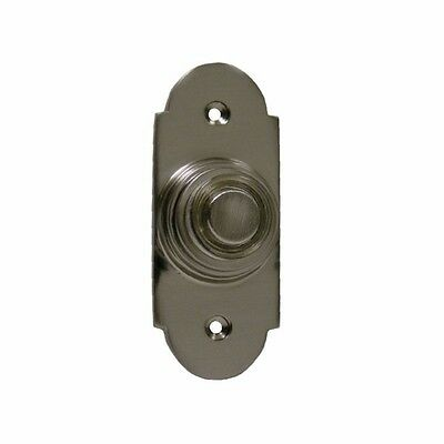 Byron Brushed Nickel Door Bell Push with Lighted Button - for a wired door Bell