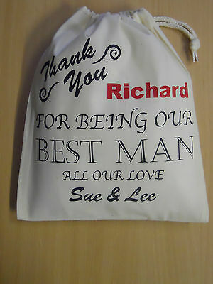 Wedding Day Thank you for being our best man & personalise add names Gift Bag
