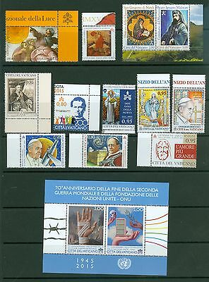 Vatican City 2015 Compete MNH Year Set
