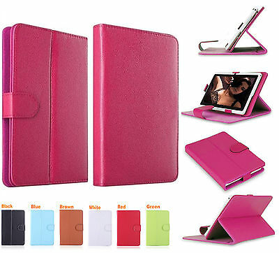"""Universal Leather Stand Folding Folio Case Cover For All 10""""10.1""""Tablets Android"""