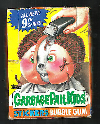 1987 Topps Garbage Pail Kids 9Th Series Box 48 Unopened Packs Look Excellent