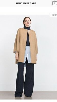 Zara Hand Made Cape Size Medium RRP £89.99 Brand New, SOLD OUT