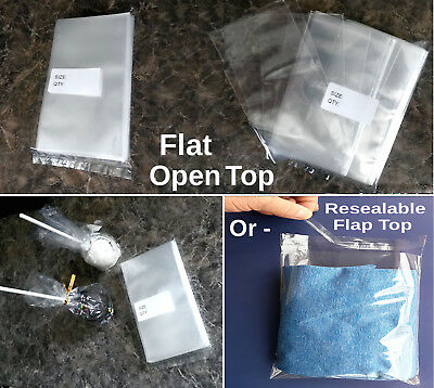 Clear Small Lip & Tape OPP Bags Resealable Jewelry Flap-Top Gift Bags 1.5ml.