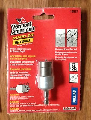1x NEW! Vermont American Dimpler Magnetic Drywall Driver Screw Setter drill bit