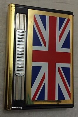 England Gold Double Ejection Cigarette Lighter Case Box Holder Limited Edition