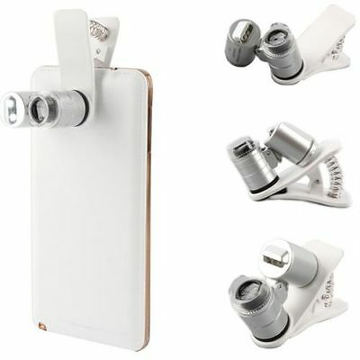 Universal All Phones 60X Zoom 3 LED Magnifier Clip Microscope Magnifying Glass