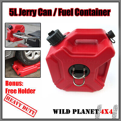 5L Jerry Can Fuel Container With Holder Spare Petrol Container Heavy Duty