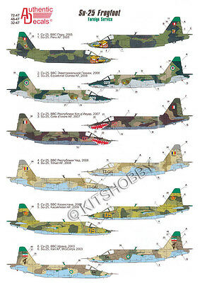 Authentic Decals 1/48 Sukhoi Su-25 Frogfoot in Foreign Service