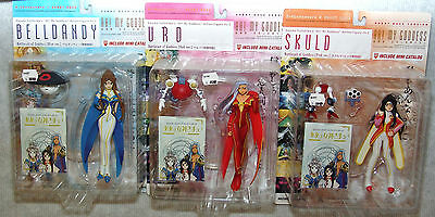 NEW Ah! My Goddess Battlesuit Fig Set #2 Belldandy, Urd, Skuld & Banpei-kun