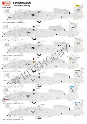 Authentic Decals 1/48 A-10C Warthogs with mission marking
