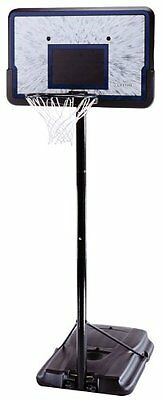 Lifetime 1221 Pro Court Height Adjustable Portable Basketball System,44 Inch New