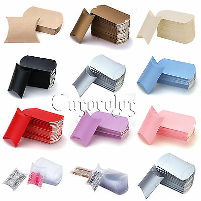 50/100 Pillow favor Box Anti-Scratch Boxes Wedding Party Favour Gift Candy Boxes