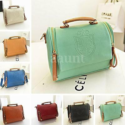 Women Leather Satchel Shoulder Bag Handbag Messenger Crossbody Tote Purse Bag