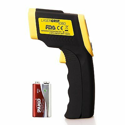Etekcity Lasergrip 1080 Digital Infrared Thermometer,Yellow (Lasergrip 1080) CXX