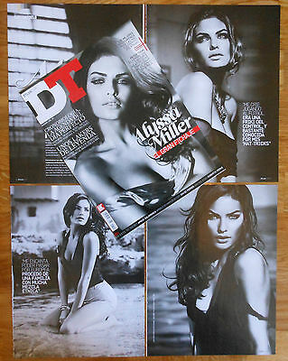 ALYSSA MILLER DT spanish cover & 5 page sexy article model clippings photos