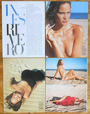 INES RIVERO 7 page 1996 nude sexy article clippings photos model Argentina