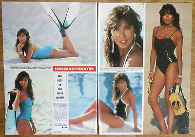 CARLOS SOTTOMAYOR page 1984 sexy article clippings photos Brazil actress
