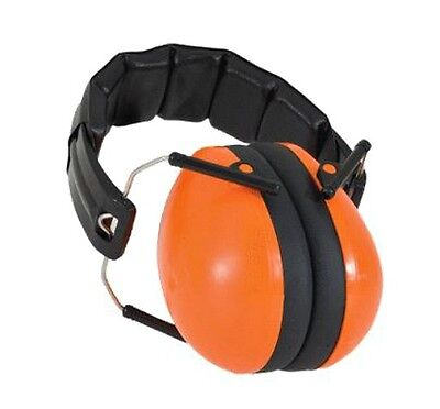 NEW Baby Banz Orange Earmuffs Soft Cup Ear Muffs Kids Babies Infant Childrens