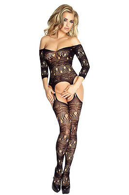 Catsuit PR4686 Provocative Bodystocking Reizwäsche sexy Damen Dessous Schwarz