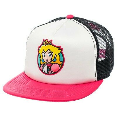 NEW OFFICIAL Nintendo Super Mario Princess Peach Classic Retro Baseball Cap Hat