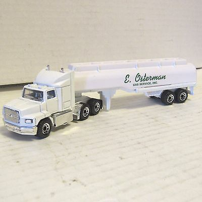 "E. Osterman Gas Service Inc. White 6.5"" Toy Truck 8 Wheel Tank Original Box"