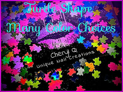 TURTLE Shape Glitter~U CHOOSE~Nail•Acrylic•Gel•Body Art•Face•Festival•Crafts
