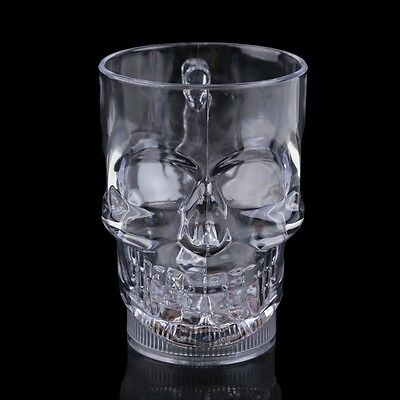 Vakind Brand acrylic Led Light Up Skull Head Beer Mug Water Inductive Cup USA