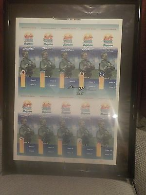 Framed Miami Dolphins Auto Signed 1993 Uncut Ticket Sheet Set DON SHULA HOF #252