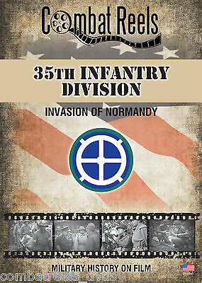 35th Infantry Division Normandy Invasion Combat Camera Film Footage Research DVD