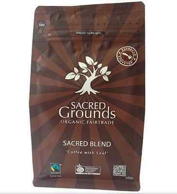 Sacred Grounds Organic Fairtrade Coffee Grounds (Espresso) 250g